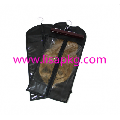 Black best selling 11 by 22 inches hair packaging bags