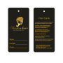 Cheap Custom Printed Label Care Hair Extension hangTags
