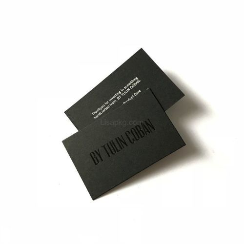 Factory price printed eco-friendly matt paper black cardboard business cards